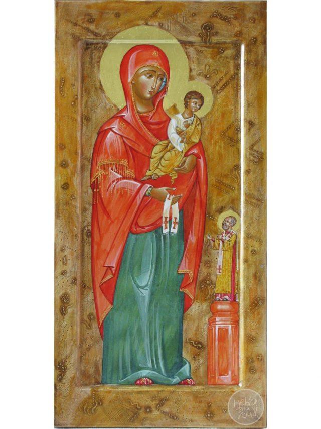 Богородиця вручає омофор святителю Миколаю