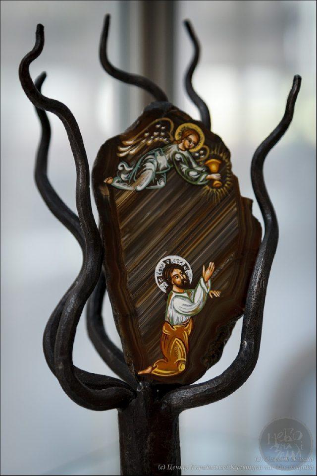 ікона Моління про чашу написана на агаті