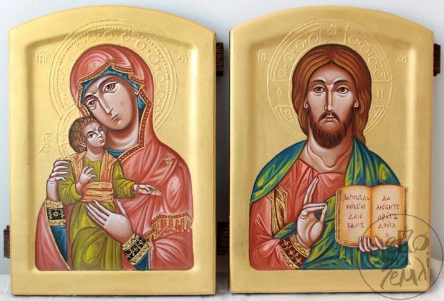 вінчальні ікониБогородиця Одигітрія та Господь Вседержитель