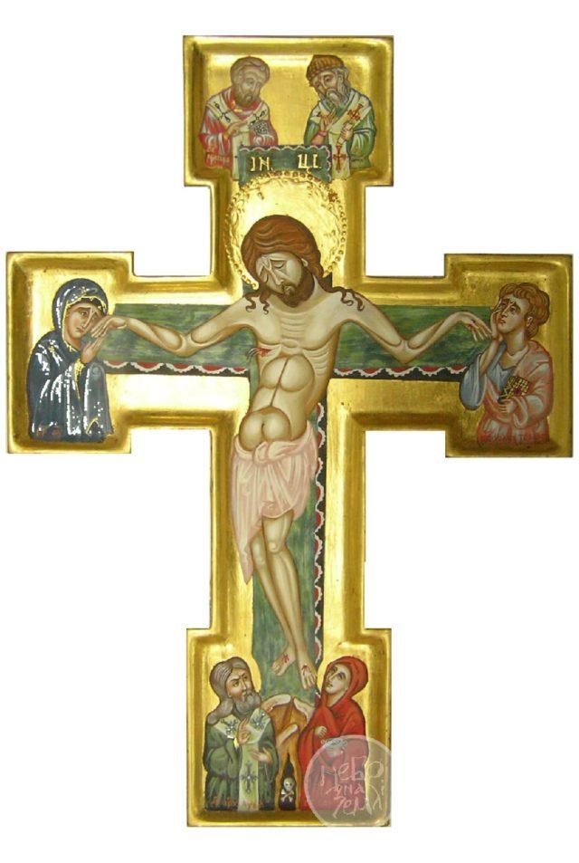 Хрест-розп'яття з вибраними святими